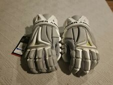 New Under Armour Men's Biofit Lacrosse Gloves Gray White XL Discontinued