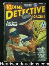 Dime Detective Mar 1943 Cornell Woolrich, Desoto Cvr