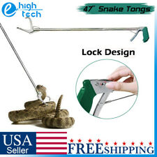 """47"""" Wide Jaw Heavy Duty Snake Tongs Stick Grabber Reptile Catcher Handling Tool"""