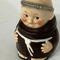 BANK Goebel Friar Tuck Monk Figurine SD29 Coin Piggy Bank No Key Excellent Cond
