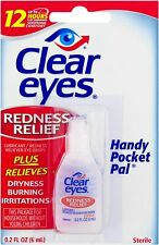 CLEAR EYES * Handy Pocket Pal * 0.2oz Your  Choice of 3pk, 6pk, 12pk, 24pk MORE