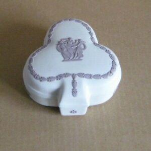 Wedgwood Jasperware White & Lilac Club Box