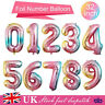 "Foil Number Balloons 40"" inch  Air Baloons Large Happy Birthday Party Ballons UK"