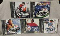 5 Sport Games Lot - Playstation 1 2 PS1 PS2 Madden NFL NHL Tiger Golf NBA MLB -