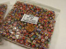 2 Pounds Assorted India Handmade Chevron Multilayer Glass Beads Bulk Lot (RJ-8)
