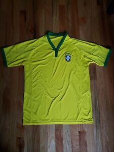 NWOT Brazil Brasil Soccer Jersey size L Brazilian Futbol Football