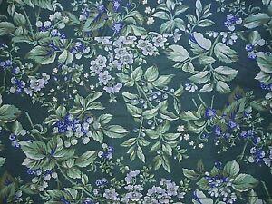 "Bramble Berry Fabric Valance Laura Ashley Green Floral 84"" x 18"""