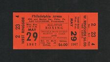1967 Philadelphia boxing ticket Bennie Briscoe vs Turner Martin vs Carr