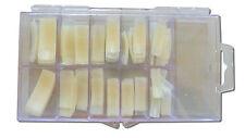 500 Tips + Box,French Nageltips, Künstliche Fingernägel Natur Gerade French Tips
