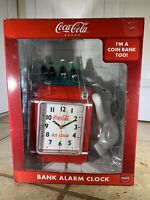 Vintage Coke Bottles Alarm Clock and Coin Bank NEW in Box