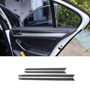 For Volkswagen Jetta MK6 2015-2018 Real Carbon Fiber Inner Door Panel Strip Trim