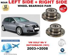 para VW GOLF MK V rodamientos rueda trasera Par 2003- > 2008 Hatchback