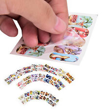 24 sheets mixed designs water transfer nail decorations stickers decals lot Qw