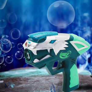 USB Rechargeable Projection Bubble Gun Bath Toy Kids Outdoor Soap Water Blower