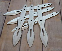 9 INCH OVERALL PERFECT POINT SILVER THROWING KNIVES W/ NYLON SHEATH - 6 PCS SET
