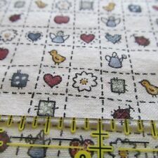 Small Scale micro print cheater watering can garden theme angels hearts BTHY
