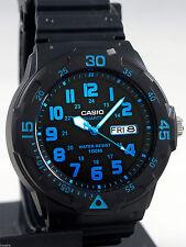 Reloj Nuevo Casio MRW-200H-2BV Hombres Análoga 100m WR Día Fecha Resina