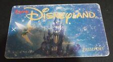 EURO DISNEYLAND 1992 PASSPORT/TICKET euro disney paris theme park TINKERBELL !!!