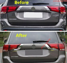 FIT FOR Mitsubishi Outlander 2016 2017 CHROME REAR TRUNK COVER TRIM TAILGATE
