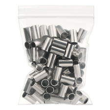 100pcs Crimp Sleeve Ferrule Pleated Tube Pipe For LMR240 LMR200 cable Connector