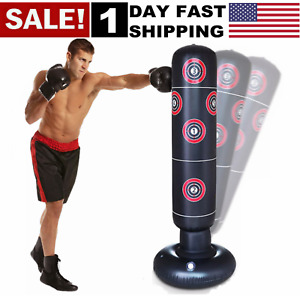 Free Standing Punch Bag Boxing Kick 1.6M  MMA Martial Art Home For Adult Child