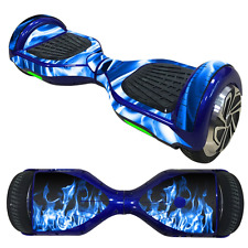 6.5 inch BALANCE SCOOTER HOVERBOARD Skin Sticker Decal Vinyl BLUE FIRE