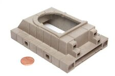 """Playmobil System X Castle Grey """"Stone"""" Wall w/ Bumped Out Arched Window 3268"""