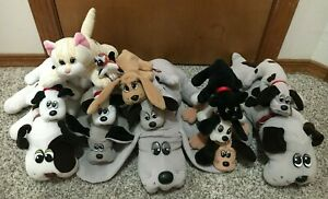 Vintage Tonka Pound Puppies Purries Plush Lot Of 14 Plushes Toys Dogs Cats