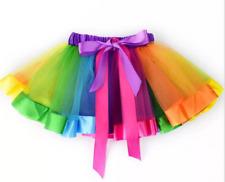 Adult baby kid Fancy Dress Tutu Pettiskirt Princess Party Skirts Mini Rainbow UK