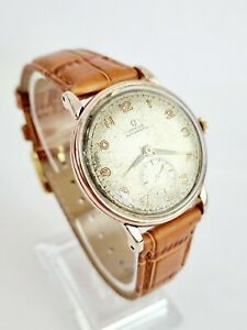 Fine 1944 Vintage Omega 2398 Rose Gold Bumper Automatic Cal.30.10RA Gents Watch