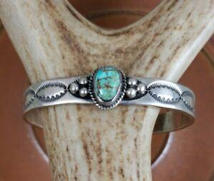 Vintage Darrell Cadman Royston Turquoise Sterling Cuff Bracelet Signed