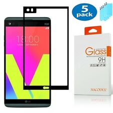 [5x] For LG V20 [Full Cover] Tempered Glass Screen Protector
