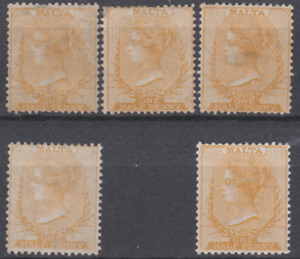 Malta 1863/82 Mint Mounted Collection 1/2d
