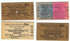 Railway Tickets Ireland, 4 No. CI E,  Tara St.,, Harcourt St., Landsdown Rd. Etc