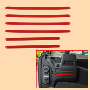 6pcs Red Rear Tail Trunk Cargo Trim Cover Fit for Jeep Wrangler JL 2018-19