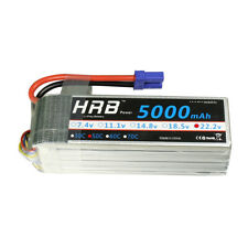 HRB 6S 22.2V 5000mAh Lipo Battery 50C 100C for Airplane Helicopter Truck EC5 CA!