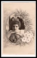 AD2810  THEATRE FAMOUS ACTRESS CLARA WARD  WITH CROWN W. DIAMONDS  RPPC