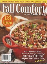 Fall Comfort food magazine Cajun fair Red beans and rice Blackened catfish