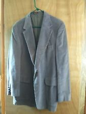 MS56 Woodmere Men's Size 42 R Grey Corduroy Blazer Jacket Minor wear on sleeves