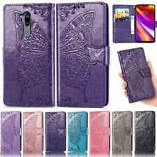 For LG Q60 K40s K50s V50 G7 G8 K10 2018 Butterfly Wallet Leather Flip Cover Case