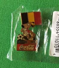 Vintage World Cup USA Coca-Cola 1994 Lapel Pin Belgium Dog Mascot Soccer