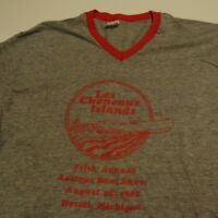 Vintage 80's MICHIGAN ISLAND Antique Boat Show 1982 T Shirt FREE Shipping sz XL