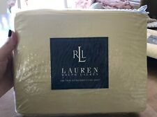 Brand New Ralph Lauren Extra Deep Fitted Sheet Solid Yellow Midnight Sun!