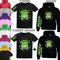 Crazy Jelly Merch Youtuber Gamer Top Kids Tee Boy Girl T-Shirt Hoody YS-YXL Size