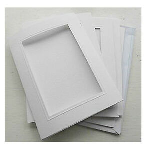 Silkcraft Aperture Cards Silk Painting Gutta Outlines-Pack of 5-White 144x198mm