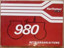 Fiat Trattori Schlepper 980 Betriebsanleitung