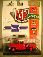 M2 AUTO-DRIVERS- '58 CHEVY APACHE STEPSIDE- RED 1:64