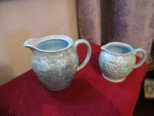 SADLER  LIGHT GREEN ART DECO  GOOD CONDITION   PAIR  OF  JUGS  SEE PICTURES