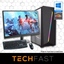 "Ryzen 3 2200G 120GB SSD 8GB DDR4 RX570 4GB 24"" Gaming Computer Desktop PC Bundle"