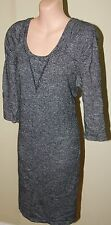 Womens Charcoal Wool Blend Dress -  Country Road - Size L